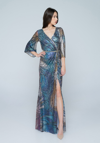 Evening dress from colorful sεquin