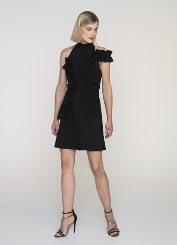 Volan Mini black dress