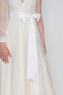 White glitter maxi dress with one sleeve