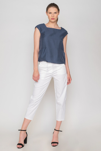 Blue top with pockets