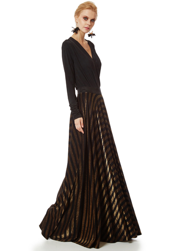 Bronze-black maxi skirt