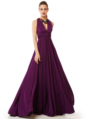 Versatile purple dress - The infinity dress