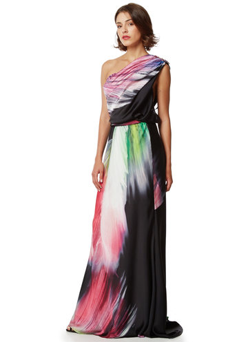 "Maxi printed dress ""Abstract scheme"""