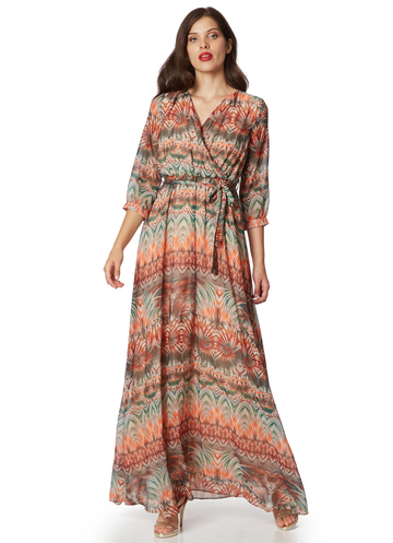 "Maxi floral dress ""Tropical"""