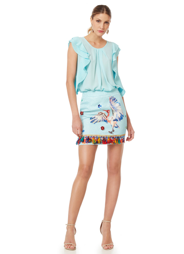 "Aqua mini skirt ""Flamingo"""