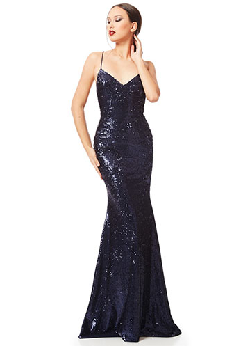 Blue mermaid sequin dress